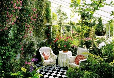 Обустройство зимнего сада