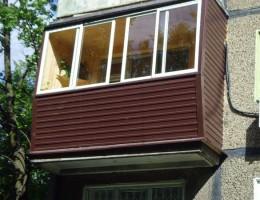 Специфика внешней обшивки балкона