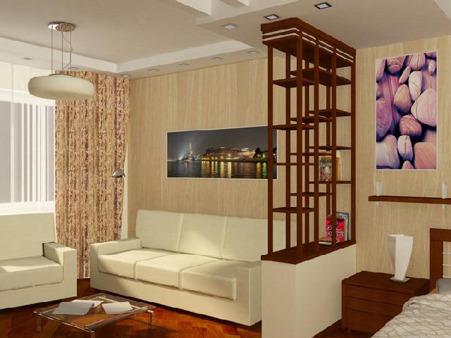 Как спланировать интерьер в маленькой однокомнатной квартире