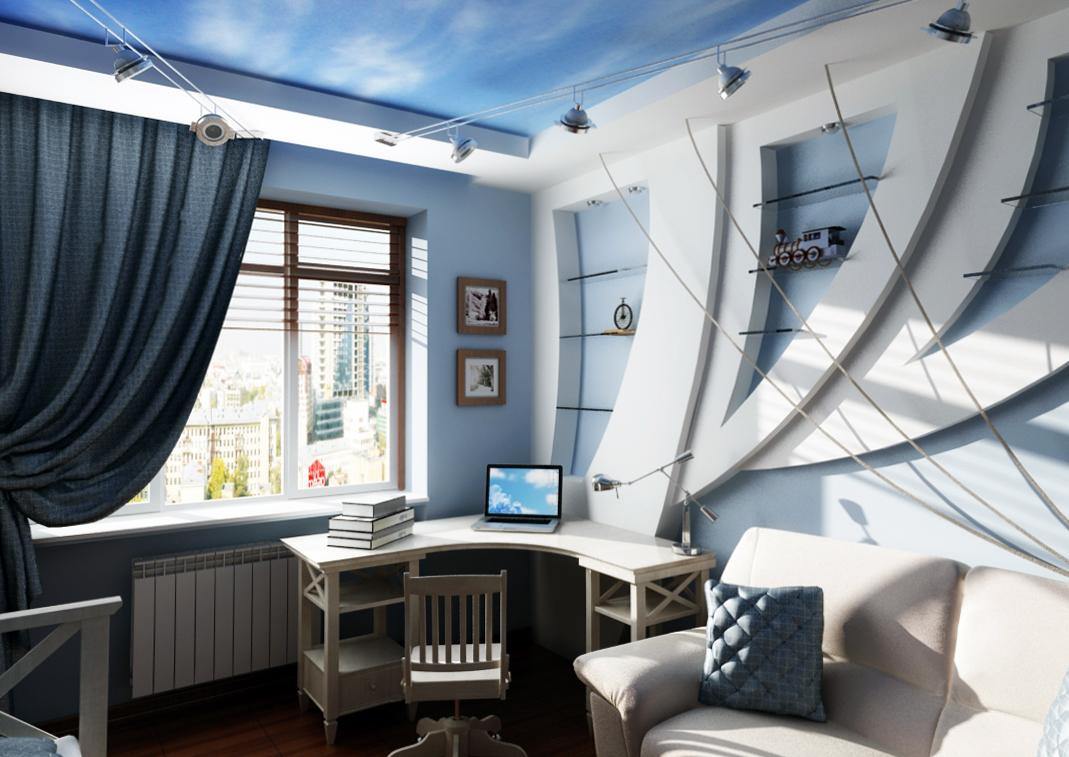 Как разместить рабочий кабинет в жилой комнате?
