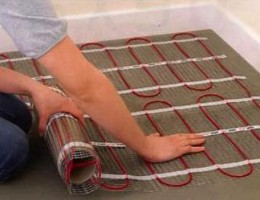 Укладка нагревательных секций для теплого пола
