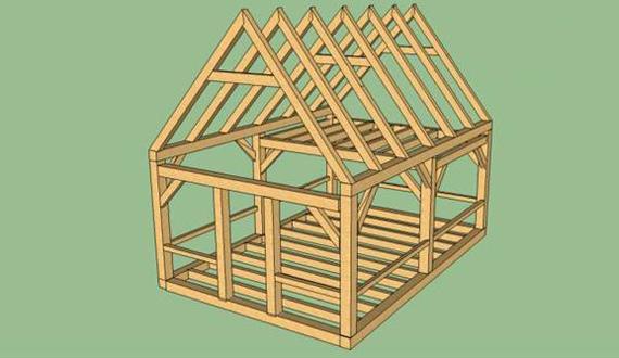 Как построить маленький дом своими руками из бруса