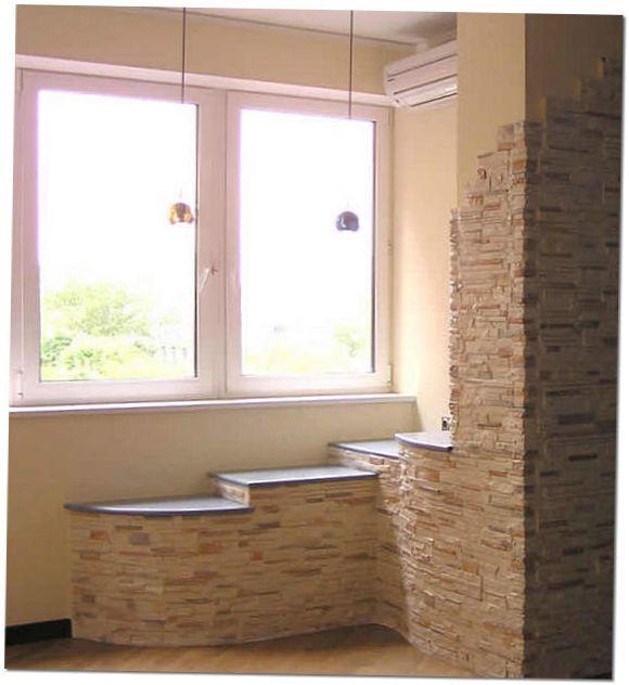 Декоративный камень для внутренней отделки балкона цены..