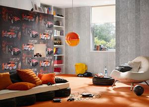 Варианты комбинирования обоев для отделки стен