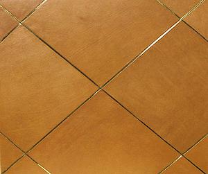 Кожаная плитка — эффектный элемент интерьера