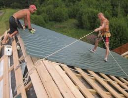 Как сделать крышу бани своими руками: конструкция, материалы, монтаж