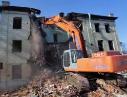 Демонтаж старых зданий и сооружений, построенных из кирпича