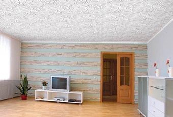 Клеевые потолки из полистирольной плитки