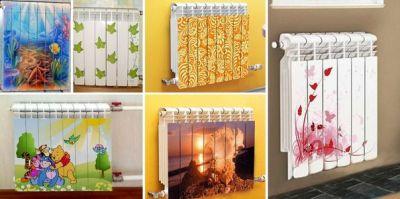 Декорируем батарею отопления