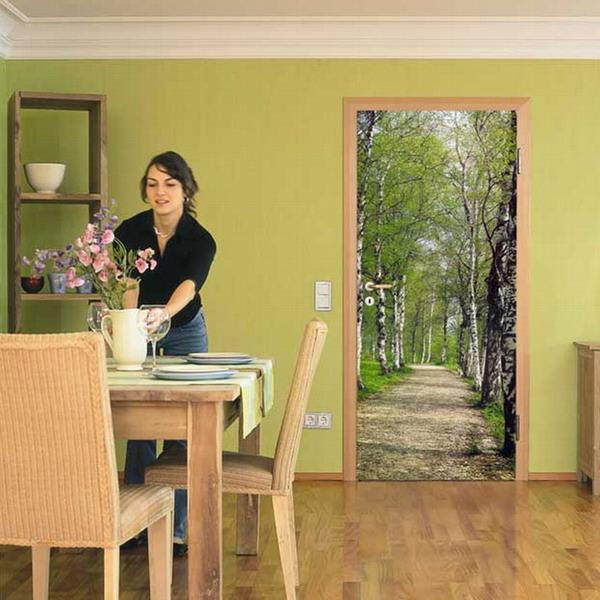 Идеи для декорирования межкомнатных дверей