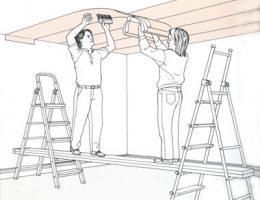 Практическое руководство к клейке потолочных обоев. Понадобится стремянка