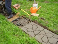 Правила строительства садовой дорожки