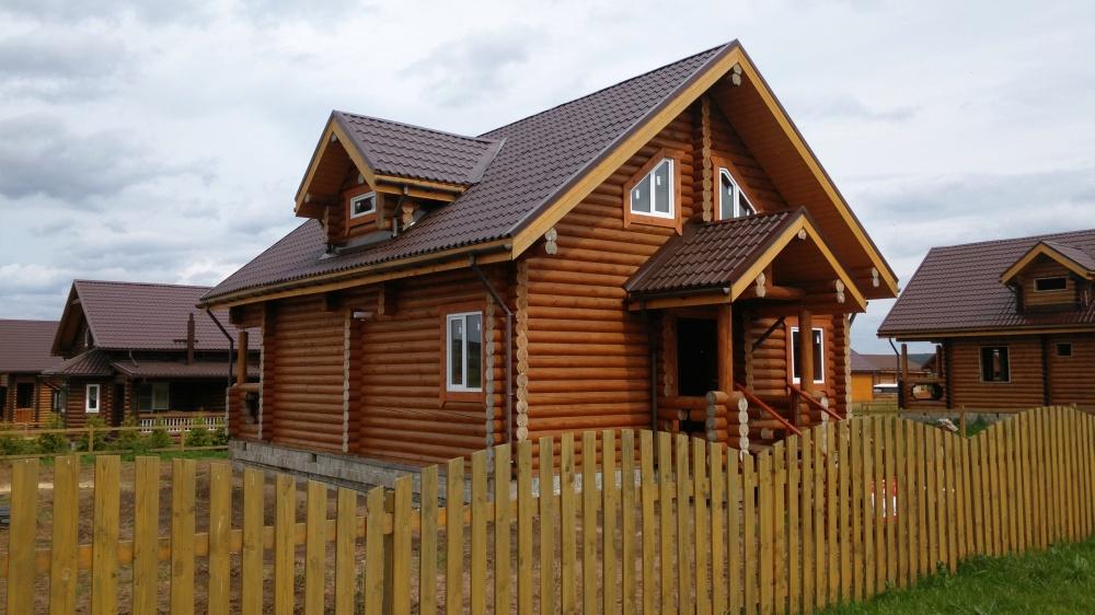 Дом из хвойных пород дерева