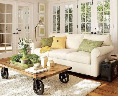 Использование журнального столика для создания интерьера гостиной комнаты