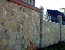 Забор из песчаника – природная красота