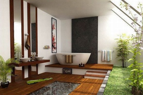 Как будет смотреться ванная комната в эко стиле?