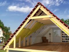 Особенности возведения двускатной крыши дома