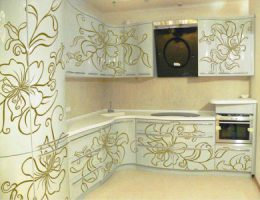 Сочетание цветов в кухонной мебели