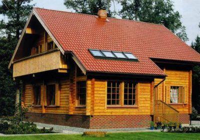 Современные загородные дома из бруса