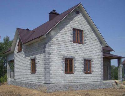 Строительство жилого дома из пеноблоков