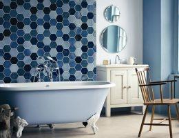 Ванные комнаты всех оттенков синего