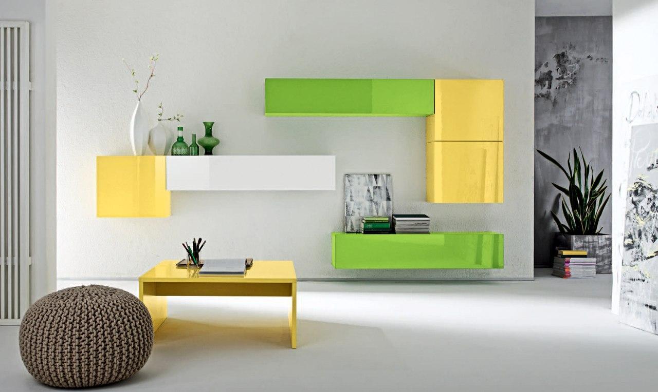 Модульная мебель или интерьер в стиле тетрис