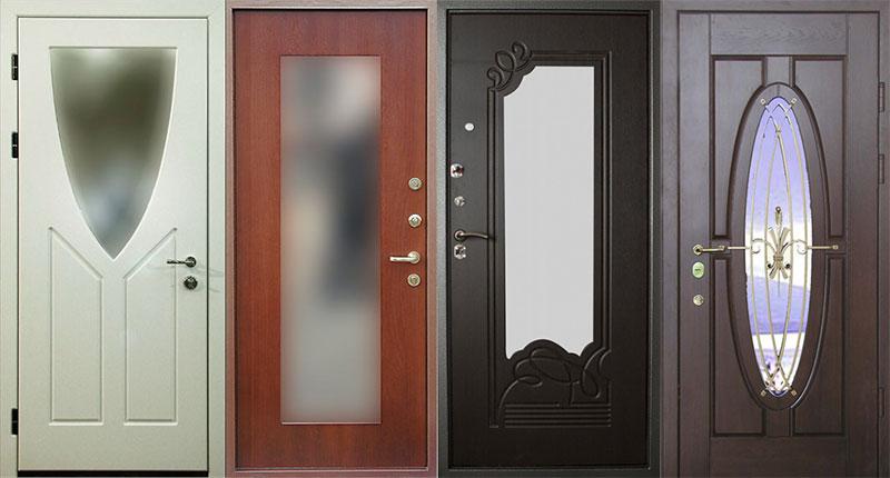 Входная дверь с зеркалом, отличное решение для любой прихожей.