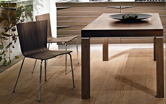 Форма и материал кухонного стола