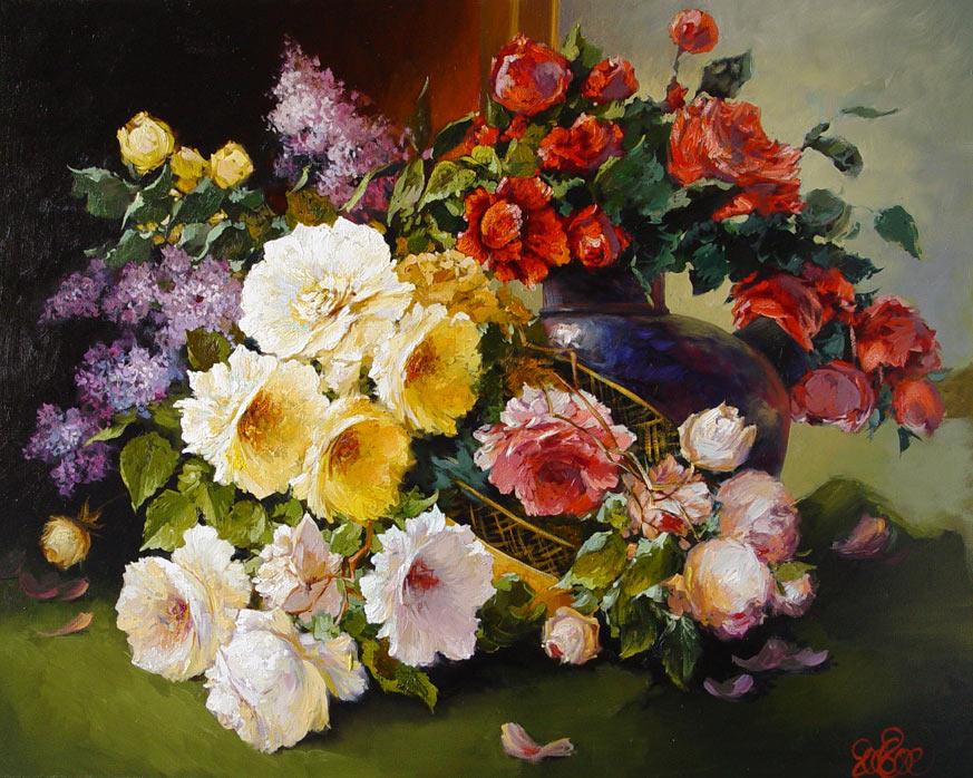 Оригинальное украшение интерьера — картины из цветов