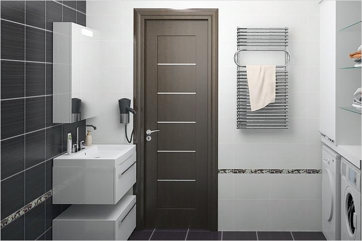 Обустройство ванной комнаты. Двери в ванную.