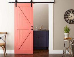 Покраска и установка раздвижной двери
