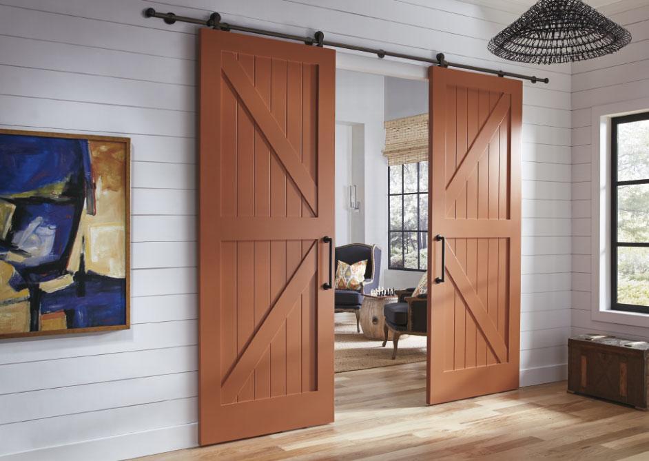 Амбарные двери в квартире
