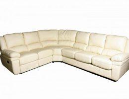 Угловой диван из натуральной кожи: оформи гостиную стильно