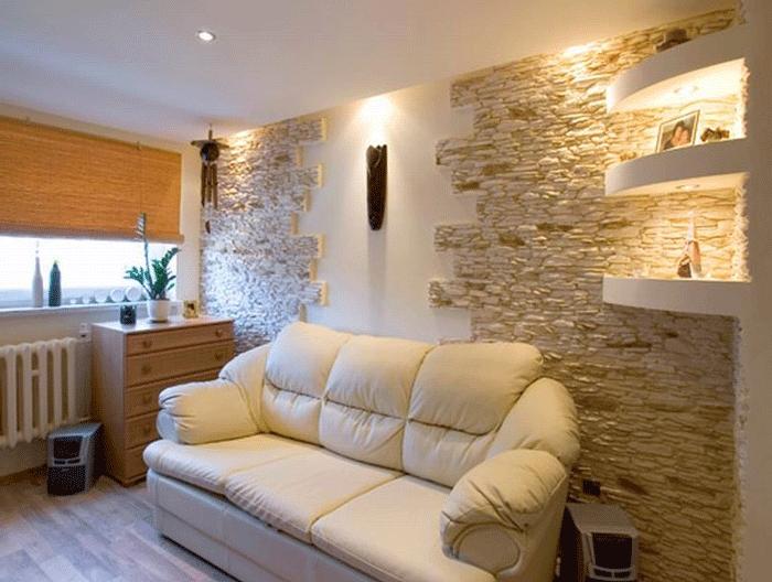 Стили интерьера с камнем