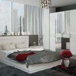 Мебель для спальни - белый глянец