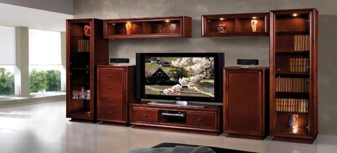 Мебель для гостиной из массива — современные тенденции