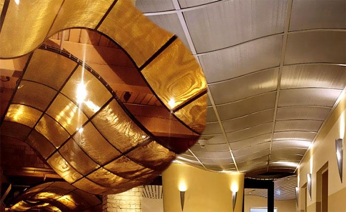 Как сделать криволинейный потолок?
