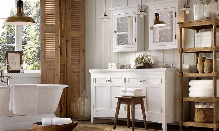 Простота и роскошь ванной в стиле прованс