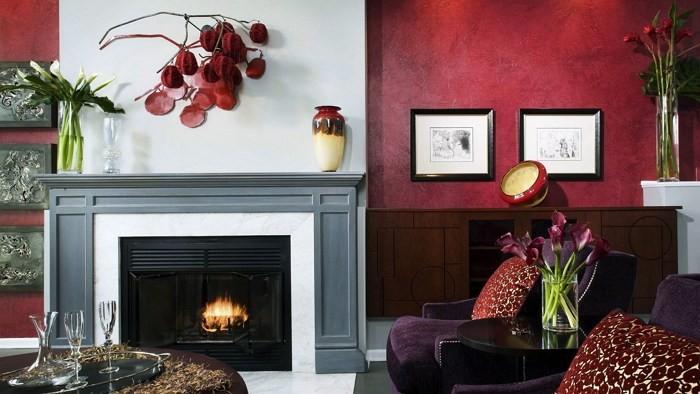Бордовый цвет в домашнем интерьере – красноречивая роскошь