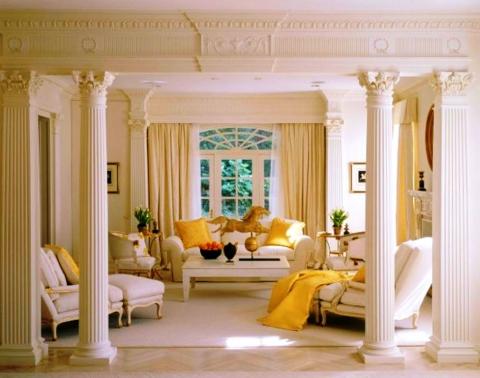 «Возможно ли использование колонн в интерьере квартиры?