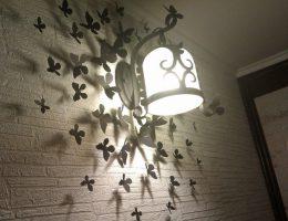 Декор бабочки на стену своими руками