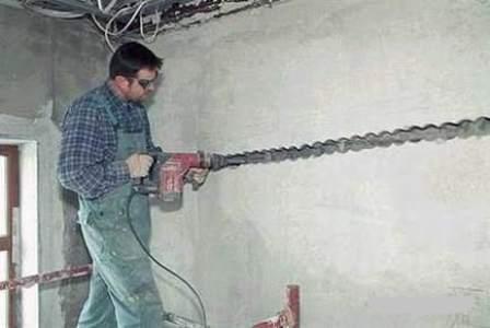 Подготовка помещения к штроблению стен