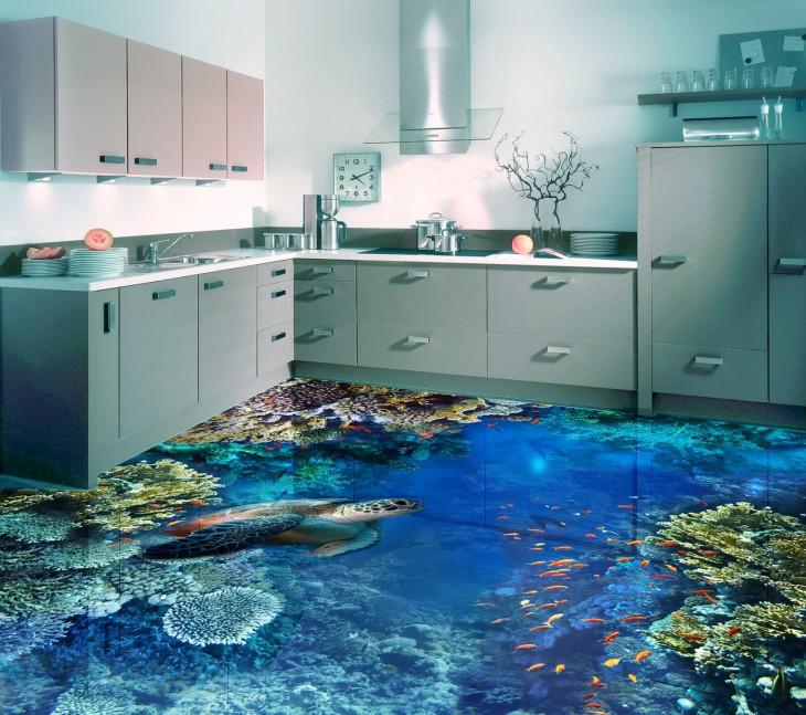 Технология 3d — наливные полы, о которых стоит мечтать
