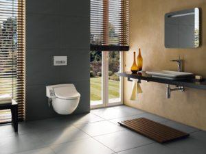 Презентабельная ванная в серых тонах