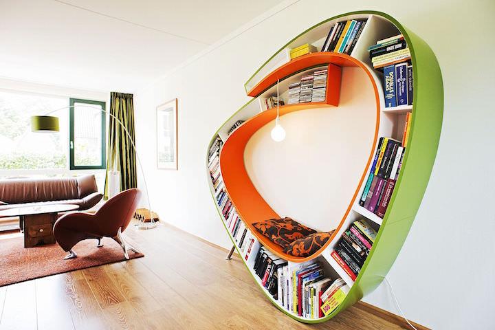 Самые неординарные идеи хранения книг