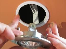Установка точечных светильников