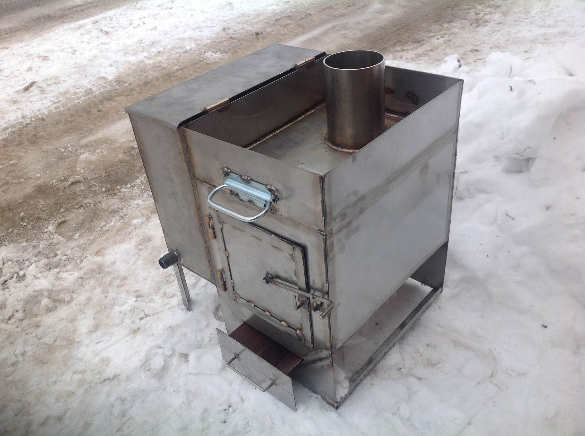 Печь из металла для бани