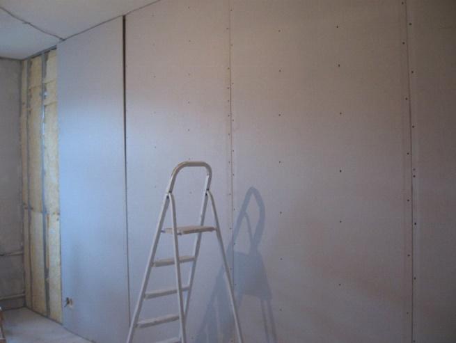 Выравнивание стен, используя гипсокартон