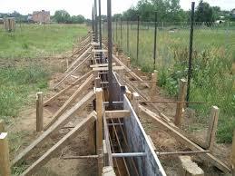 Фундамент под каменный забор
