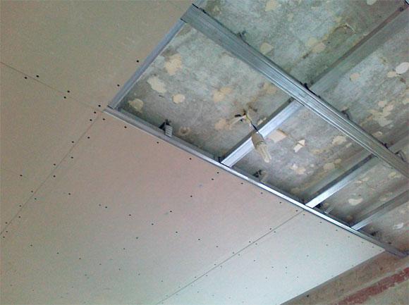 Одноуровневый потолок из гипсокартона